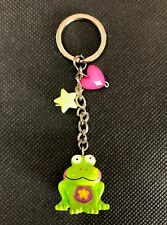 5x Green Frog Keyrings Key Ring/Chain Bag Charm Party Favor Bag Filler Bulk Lot