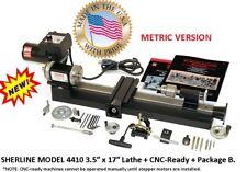 "SHERLINE 4410B-CNC 3.5″ x 17″ Lathe CNC ready + Package ""B"" (METRIC Version)"