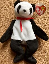 Ty Beanie Babies Collection Fortune Panda Bear Retired 1997