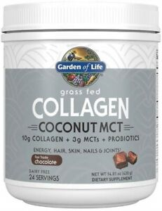 Grass Fed Collagen Coconut MCT by Garden of Life, 24 servings Chocolate