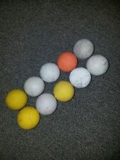 Lot of 10 used Assorted lacrosse Balls