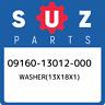 09160-13012-000 Suzuki Washer(13x18x1) 0916013012000, New Genuine OEM Part