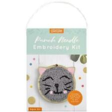 Kaiserkids Punched Needle Embroidery Kit - Cat