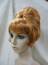 Natural Red 60s Beehive Wig 70s Housewife Groovy Fun Wedge Mrs Garrett Laverne