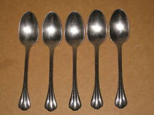 "5 Dansk SCALLOPED 7-3/8"" Oval Soup / Place Spoons Stainless"