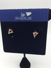 $69 Swarovski Rose goldtone squared red crystal pave chevron stud earrings SW55