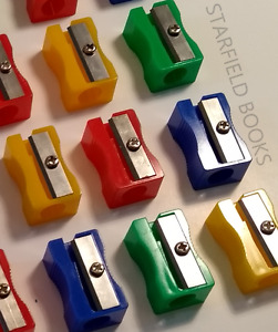 Pencil Sharpeners - Assorted Mixed Colours - Plastic School Office