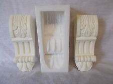 SILICONE RUBBER MOLD ORNATE CORBEL MOULDING  DIY FURNITURE FIRE PLACE CREATE