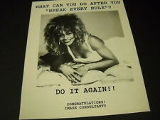 Tina Turner what can you do after breaking every rule Vintage promo display ad