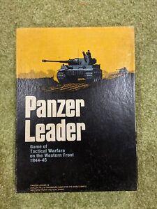 Vintage 1974 Avalon Hill PANZER LEADER Bookcase Game