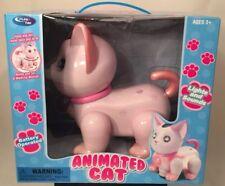 Pink Cat Robotic Mechanical Electronic Dances Music Play Tek Adorable Cute NEW