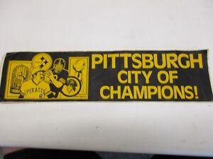 Pittsburgh city of champions bumper sticker Terry Bradshaw Willie Stargell