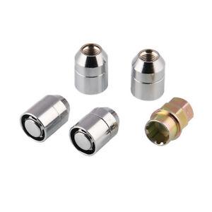 Alloy Steel Car Anti Theft Security Lock M12x1.5 Nut Wheel Lug Nut 1 Key+4 Locks