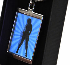 Animated Keyring - Retro Girl by Sonia Spencer