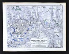 1850 Johnston Military Map Napoleon Battle Smolensko Valtelina - Smolensk Russia
