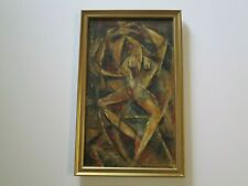 OIL PAINTING MID CENTURY 1940'S CUBIST CUBISM NUDE ABSTRACT EXPRESSIONISM MOD
