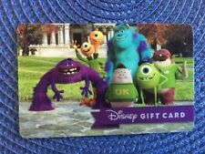 Disney Monsters Inc gift card collectible only-  no $ value or points on it