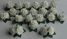 Wedding Ivory Rose Flower Crystal Diamante Buttonhole Roses Package