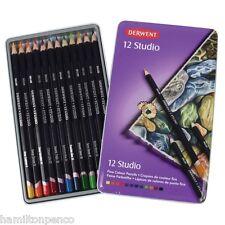 DERWENT STUDIO TIN of 12 fine colour pencils