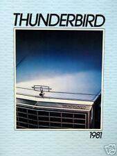 1981 Ford Thunderbird 2-dr hardtop new vehicle brochure