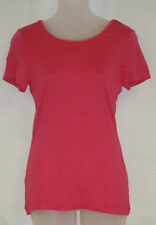 PETIT BATEAU Women's Pink Short Sleeve Tie Back T-Shirt 71480 Sz 18 L NEW $51