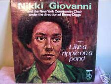 NIKKI GIOVANNI                Like a ripple in the Pond