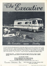 1971 Executive Indust Camper Motorhome - Classic Vintage Advertisement Ad H33