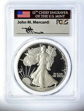1986-S Proof Silver Eagle PR70 PCGS Mercanti