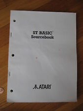 1985 vintage St Basic Atari developer programming manual book 520St video game
