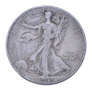 Better 1941-D - US Walking Liberty 90% Silver Half Dollar Coin Set Break *037