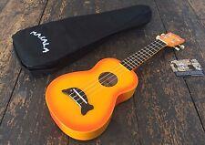Makala Orange Burst Soprano Dolphin Ukulele Uke Fitted With Aquila Strings & Bag
