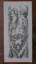 STEFANO DELLA BELLA ´ORNAMENTI O GROTTESCHE, PUTTI, BAT´ DE VESME 1008, ~1653
