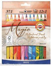 KOH-I-NOOR 3408 MAGIC MATITE COLORATE-Set di 12 COLORI con MISCELATORE MATITA