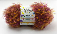 Yarn Bee Playful Bulky Nylon Yarn-1 Partial Skein Party Ombre: Purple Orange