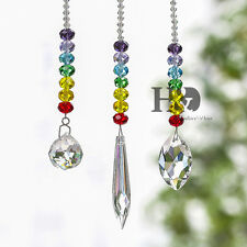 Set 3 Crystal Suncatcher Feng Shui Prisms Pendant Window great Feng Shui Gifts