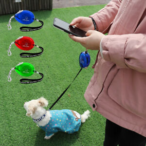 Retractable Dog Lead 3M Portable Lightweight Mini Extending Dog Lead up to 12KG