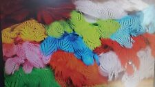"""LOT of SILVER PHEASANT """"  body feathers strung """" HOT ORANGE  Fly Tying"""
