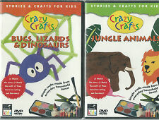 Crazy Crafts - Jungle Animals / Bugs, Lizards & Dinosaurs (DVD) ***NEW!!***