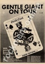 Gentle Giant WWA 010 Brown's Home Brew U.E.A. Norwich MM4 LP/Tour Advert 1974