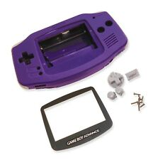 Gameboy Game Boy Advance Gba púrpura Shell Estuche de CARCASA W Pantalla y Herramientas UK