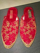 Vtg Turkish Genie Velvet slippers Size 7 small