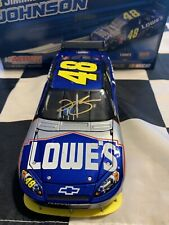 2009 Jimmie Johnson Gold Autographed #48 Lowes 1/24
