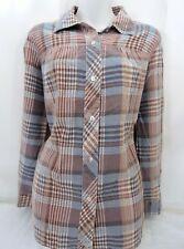 Vintage Land 'n Sea Soft Blue & Mauve Flannel Ladies' Size 16