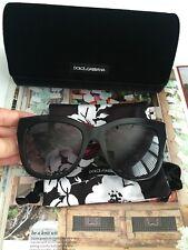 Dolce & Gabbana Sunglasses 100% Authentic 4267-299913-805 Black Women NEW495