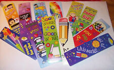 LOT OF 12 CHILDREN'S READING BOOKMARKS