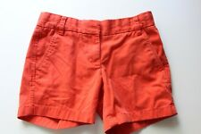 Women's J Crew Orange Khaki 100% Cotton Chino Flat Front Shorts Size 00