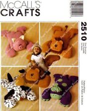 Sew & Make McCall's 2510 SEWING PATTERN - DINOSAUR DOG PIG LION PILLOW BUDDY