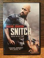 Snitch (DVD) Disc Mint Dwayne The Rock Johnson Barry Pepper