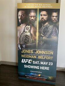 UFC 187 JON JONES RARE CARDBOARD CUT OUT MOVIE THEATRE FIGHT DISPLAY SIGN POSTER