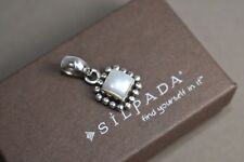 SILPADA Sterling Silver Button Pearl Pendant S1211 Matching earrings ring listed